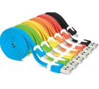 USB-micro USB 1 м плоский цветной