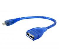 OTG кабель USB AF-micro USB силикон 0,3м