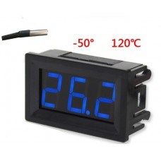 Термометр электронный 12v(синие цифры)