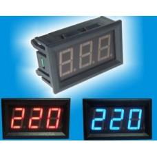 Вольтметр V27AC 75-300 В(красные цифры)