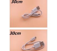 USB-micro USB 25 см белый