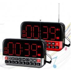 Радиоприемник-часы L-80 mp3 с аккумулятором