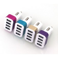 USB прикуриватель от 12V 4,1A на 4 выхода на блистере
