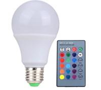 Лампа LED цветная RGB 10 Wt с пультом