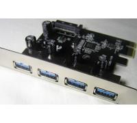 Контроллер PCI-E to 4xUSB 3.0