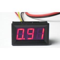 Амперметр XH-B201 DC до 10А (красные цифры)