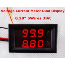 Вольтметр DC 0-100V +Амперметр 0-5A