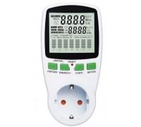 Ваттметр цифровой TS-1500  220 V 3680Wt