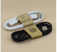USB-micro USB 1 м круглый (черный и белый)