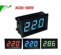 Вольтметр V28 AC 70-500 В(зеленые цифры)