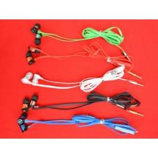 Вакуумные STR с микрофоном цветные плоский провод