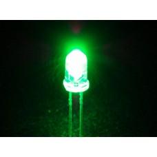 Светодиоды 5 мм зеленый прозрачный