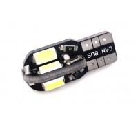 Автолампа светодиодная W5W-T10 8SMD 5730SMD