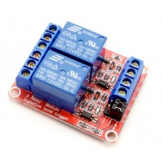 2-х канальный модуль реле с тригером на оптопаре 12В