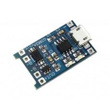 Модуль заряда с защитой для аккумулятора 18650