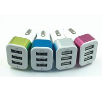 USB прикуриватель от 12V 3,1A на 3 выхода на блистере