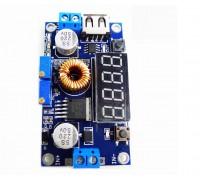 Понижающий импульсный модуль питания  с вольтметром для зарядки литиевых аккумуляторов