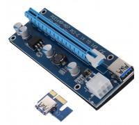 Райзер 6 pin (выносной слот для видеокарты) с подключением через PCI-E