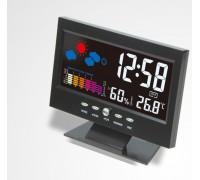 Часы-будильник + метеостанция CJ8082T с цветным дисплеем