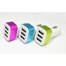 USB прикуриватель  12V 3,1A на 3 выхода без упаковки