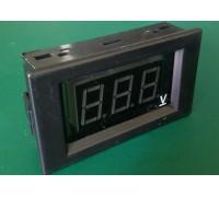 Вольтметр V85DC-A 0-100 В(красные цифры)