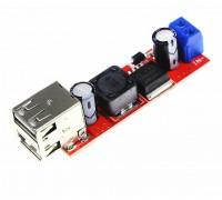 Двойное авто зарядное устройство USB DC-DC вход 6-40 V, выход 5V3A