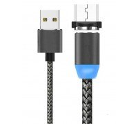 USB-micro USB 1м с магнитной головкой