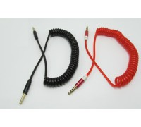 AUX 3,5mm-3,5mm 1,5 м витой шнур (пружина) ,10 цветов