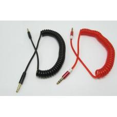 AUX 3,5mm-3,5mm 1,8 м витой шнур (пружина) ,10 цветов