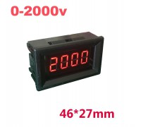 Вольтметр V27DC-C 0-2000 В(красные цифры)