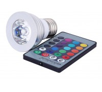 Лампа Spot E27 RGB 3 Wt с пультом, направленного света