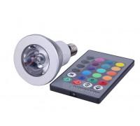 Лампа Spot E14 RGB 3 Wt с пультом, направленного света
