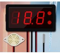 Термометр электронный XH-B330 12-24V ,от -40 до 220 со звуковой сигнализацией(красные цифры)