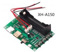 Беспроводной Bluetooth XH-A150 усилитель PAM8403 с поддержкой USB+TF 10 W + 10 W  и аккумулятором 18650