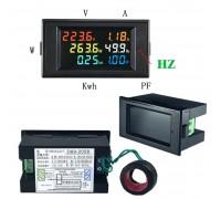 Ваттметр D69-2058 до 30 КВТ , AC 80-300 V,0-100 A