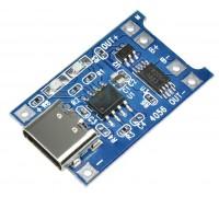 Модуль заряда TP 4056 с защитой для аккумулятора 18650, Type-C вход
