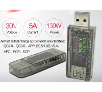 USB тестер 5A ,0-30 V поддержка быстрой зарядки