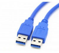 USB 3.0 AM/AM (папа-папа) 0,3 м синий