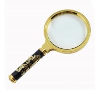 Лупа диаметр 70 мм ручка золотой дракон