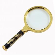 Лупа диаметр 80 мм ручка золотой дракон