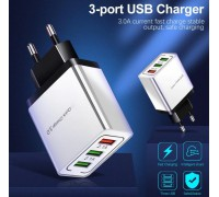 Быстрая зарядка QC 3.0 выход 3 USB порта 18 Вт