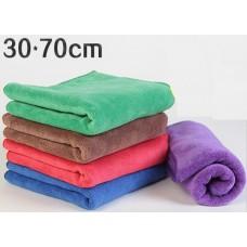 Микрофибровое утолщенное флисовое полотенце 30х70 см