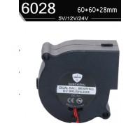 Центробежный вентилятор диаметр 60 мм толщина 28 мм питание 12 В