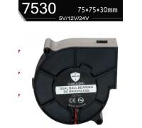 Центробежный вентилятор диаметр 75 мм толщина 30 мм питание 12 В