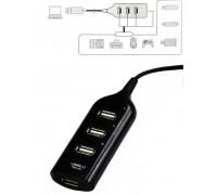 USB HUB H-35 черный  4 порта