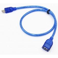 OTG Cable USB AF-mini USB силикон 0,3м