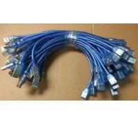 USB AM/AF удлинитель  0,35м  силиконовый
