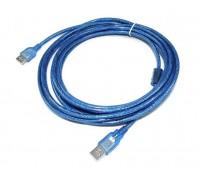 USB AM/AF удлинитель 1,5м   силиконовый