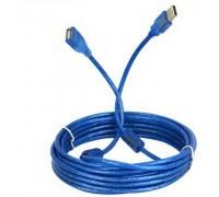 USB AM/AF удлинитель 5m  силиконовый