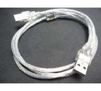 USB AM/AM (папа-папа) 1,5м силикон